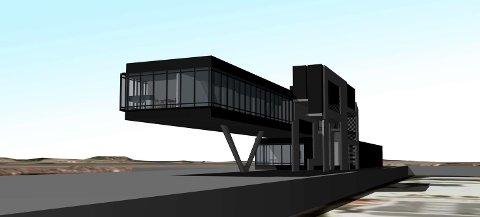 LUFTIG: Tilbygget til tårnet vil gi luftige arbeidsplasser i havna.