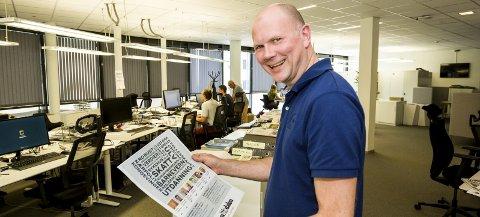 MEDIESJEF: Glåmdalens sjefredaktør og daglig leder, Thor Sørum-Johansen, hadde en skattbar inntekt på 949.028 kroner i 2018, og en formue på null.