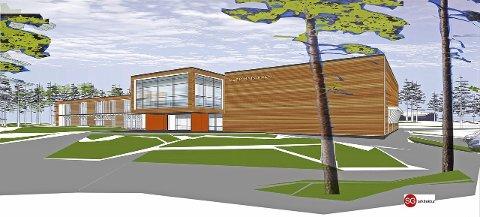 AVGJORT: Det nye flerbruksbygget på Harestua skal hete Harestua Arena. Illustrasjon: SG Arkitektur