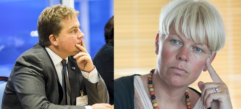 ENIGE: Verken  Sveinung Stensland (H) eller Hege Haukeland Liadal (Ap) er begeistrert for ny tukling med politidistriktene.