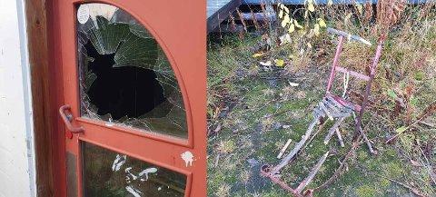 HÆRVERK: Slik så det ut når Claus Bergersen sjekket ut garasjen til Kirkenes puckers mandag ettermiddag.