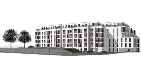 GAMMELT SYKEHUS: Slik vil sykehusbygningen i Farsund se ut i framtida.
