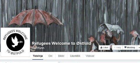 STARTET I HELGEN: Facebook-gruppa «Refugees welcome to Østfold» ble startet i helgen. Etter to dager hadde den fått over 1.200 likerklikk og mange tilbud. Skjermdump FRA FACEBOOK
