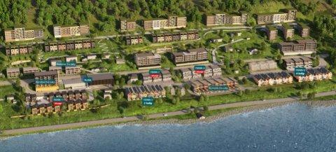 750 BOLIGER: Gigantprosjektet inneholder 750 boliger, leiligheter, dagligvarebutikk, barnehage og skitrekk.