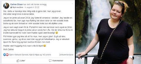 Dette er Facebook-posten Celine Olsen la ut i Ås kommunes venner.