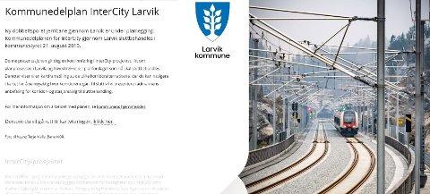 ENKELT: Larvik kommune byr nå på en forenklet gjennomgang av jernbanersaken.