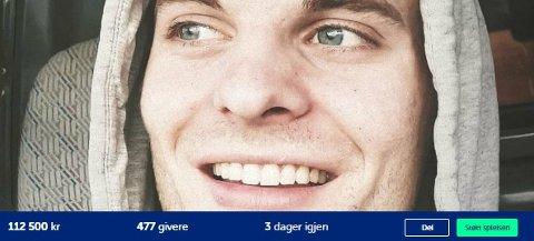 INNSAMLING: Det er samlet inn over 100.000 kroner til undervannsdroner i søket etter 24 år gamle Nicolai Øverås Espetvedt.