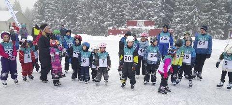 IVRIGE: 24 løpere deltok under årets skøytedag på Fremad-banen på Filtvet.