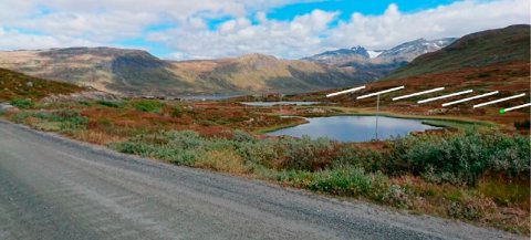 Hytteplanar: Kristoffer Kvame har engasjert Utmarksplan AS ved Knut Vidar Svanheld til å fremja den nye planen som omfattar 50 hytter på sørsida av fylkesveg 252 ved Sløtafeltet på Eidsbugarden.