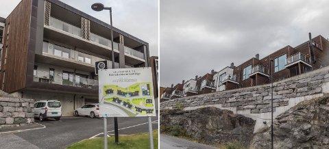 PRISTOPPEN: Ei leilegheit i Rennebakkane 1 på Vie (til venstre) var med salssummen 6,9 millionar Sunnfjords dyraste bustadsal i august. Like bak kom eit rekkehus i Falkensteinsvegen 60 i Førde (til høgre). Her var salssummen 6,6 millionar.