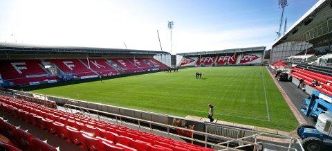 Ny avtale: FFK og kommunen er i samtaler om en revidering av Stadion-avtalen fra 2013. I dag betaler FFK 3,3 millioner kroner årlig i leie.