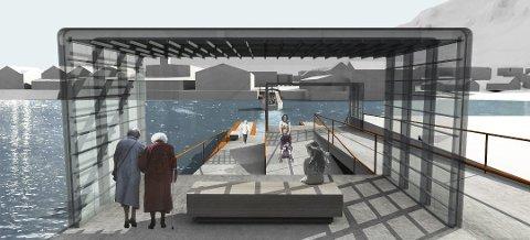 SKISSE: Ideen er å bygge to fergekaier, og trafikkere havna med en båt med plass til 12 personer.