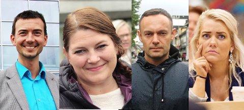 Stortingspolitikerne Kent Gudmundsen, Cecilie Myrseth, Torgeir Knag fylkesnes og Sandra Borch.