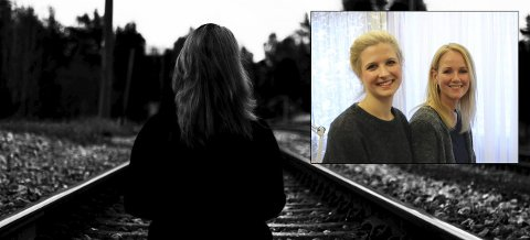 Psykolog Katrine Trongkleiv og helsesøster Mette Preston (innfelt) er kursledere for ungdommene fra Ringerike videregående skole. foto: Mari Telise Nilsen