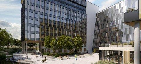Construction City. Illustrasjon 3D Estate