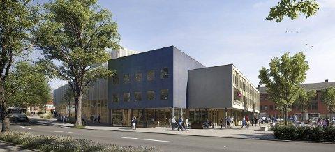 Opera- og kulturhus i Kristiansund er kommet ned i en prislapp på 690 millioner kroner, uten at vitale funksjoner er utelatt. (Alle illujstrasjoner/tegninger: Ill.: C.F. Möller)