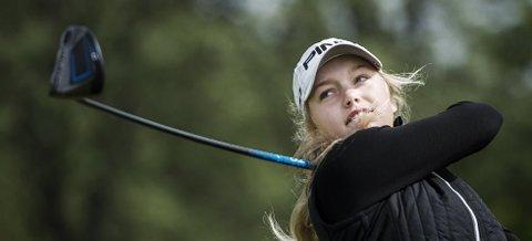 I SLAG: Celine Borge spiller stadig bedre golf om dagen.