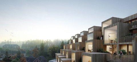 LOKALT NAVN: Det nye leilighetsprosjektet har fått navnet Saga panorama. Megleren forteller at det gir prosjektet en lokal forankring.