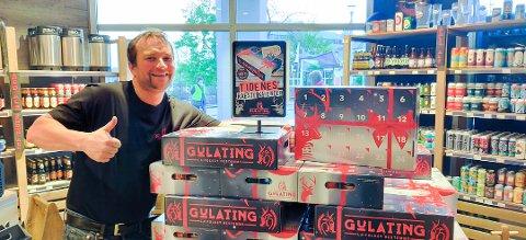 Stian Kristiansen fra Gulating Bodø åpner juleutsalg på Mo.
