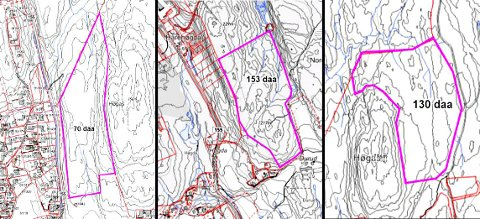 Disse tre tomtene foreslår Enebakk kommune i kampen om å få det nye fengselet som skal bygges utenfor Oslo.