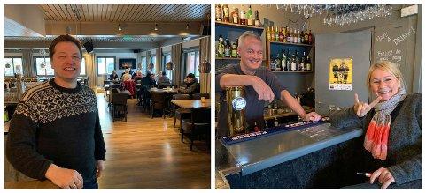 FORSKJELLIGE: Odd-Arne Nilsen føler seg romantisk på Corner Spiseri. På Sjøgata Pub kjører Tore Fosse og Birgit Lähdesmäki Johansen en annen vri for å feire valentinsdagen 14. februar.