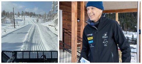 NY RUNDE: Thomas Haugsbø, nestleiar Langeland skisenter, fekk ein ny runde med å preparere løyper: – Eg hadde ikkje venta meir snø, men vi får no berre utnytte det medan det er her, seier han.