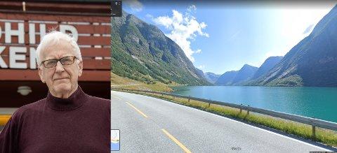 VAKKER NATUR: Hallvard Viken meiner Kjøsnesfjorden er verdsett av turistar. Han seier at det er høg verdi i å få statusen Nasjonal turistveg her når tunnelen opnar.
