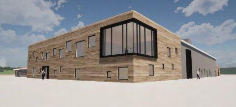 Nye fasadetegninger av Tistedalshallen.