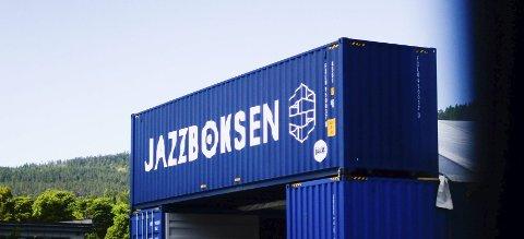 Jazzboksen: Konteinerne ved fellesbrukskrysset er blitt et populært sted.
