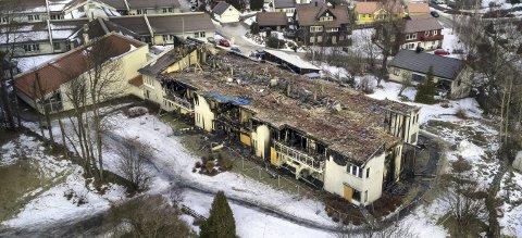 Brant julaften: Etter brannen på Skinnarberga, velger venneforeningen gjennomføre en nedtoner julefest. Foto: Nils Maudal