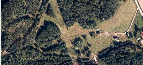 INGEN VEI: Slik så området ut i 2014 da de første grunnundersøkelsene ble gjennomført.