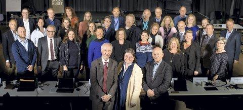 Forbereder Viken: Disse 34 folkevalgte styrer prosessen som skal lede til at Viken fylkeskommune ser dagens lys 1. januar 2020. Foto: Tom Egil Jensen