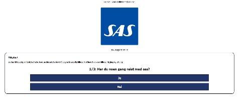 Ikke klikk på noe! SAS står ikke bak dette i det hele tatt. Logoen er misbrukt.