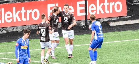 SEIER: Mjøndalen spilte en sterk kamp mot Sandefjord onsdag ettermiddag.