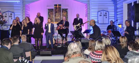 SOLIDE: Gjengen i Kroken leverte en jubileumskonsert med stor trygghet og høy kvalitet.