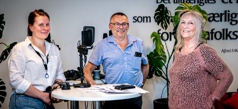 DEMOKRATISK PROBLEM: Utbygger Ivar Olsen hos Nor-Bygg har måttet tåle mye kritikk den siste tiden for et nytt bygg i Tromsø. - Et demokratisk problem, mener nabo Toril Jenssen om at bygget ikke ble slik de mener de ble varslet om. Programleder Silje Solstad til venstre.