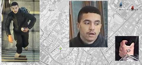 ETTERLYST: Politiet etterlyser denne mannen i forbindelse med knivdrapet på Majorstuen, der en Mysen-mann var offer.