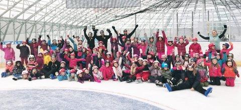 Det var ovr 70 jenter med på skøytedag i Arena Nordvest tidligere i vinter.