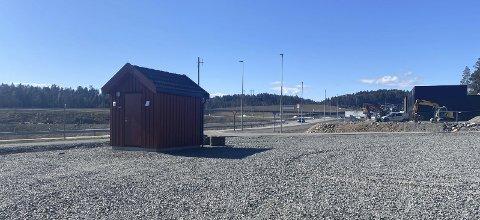 Grenstøl: Det er i dette området den nye tømmestasjonen for bobiler er planlagt.