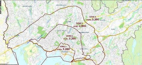 MAKSKRAV: Dette blir maksimalt antall elsparkesykler som blir tillatt innenfor sonene fra 1. september.