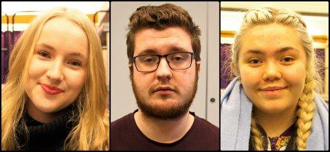 """TRIO: F.v. Ive Van Oorschot, Borgar K. Bjarkason og Thea Louise Esp er alle med på musikalprosjektet """"Hair"""" på Firda VGS fredag 15. og laurdag 16. februar."""