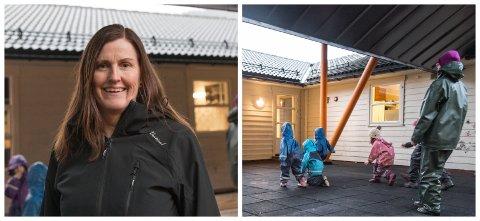 BRA TILTAK: Einingsleiar Kirsten Kongsvik i Lunden barnehage synest det er bra at barnehagen blei trekt ut til å delta i forskings- og utviklingsprosjektet ActNow.