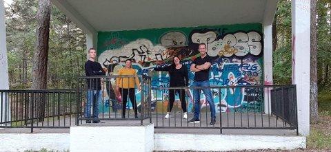 Arrangørene gleder seg til å arrangere sin første festival. Fra venstre: Per Thomas Eilert, Ann Jeanette Hoff Hansen, Elisabeth Eilert og Thomas Heieren. Håvard Hoff-Hansen og Theresa Gonzalez var ikke til stede.