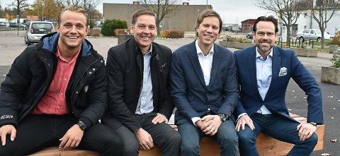 HORTEN: Etter først å ha slått sine pjalter sammen i WA Entreprenør AS har CM Gruppen her ved Eirik Wiik (f.v.) og Jon Mørk - og Kaldnes AS, ved Eirik Sunde og Endre Glastad etablert Havneparken 2 AS og flyttet virksomheten fra Tønsberg til Horten for å  utvikle havneområdet i Horten.