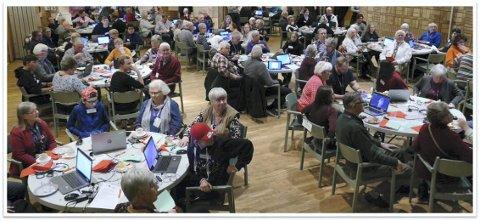 Pilotkommuner: Grue, Eidskog og Kongsvinger er pilotkommuner i Norge når det gjelder å ruste seniorer il en digital hverdag. Sverige har gjennomført opplegget, her fra kurs i Eda.foto: telia