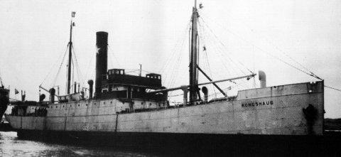 D/S «KONGSHAUG»: Skipet til Kongshavn-rederiet ble angrepet en rekke ganger etter at det begynte å seile i de alliertes tjeneste. 9. juli 1942 var det slutt på hellet.