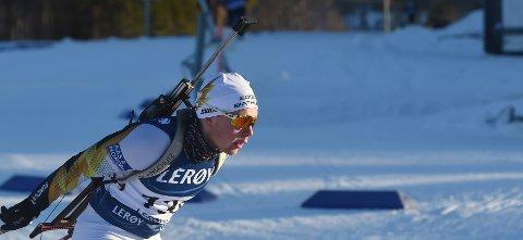 SKADET IGJEN: Peder Fekjan Solheim fikk ødelagt resten av sesongen, da han kjørte ut av skiskytterløypa på Geilo lørdag. FOTO: OLE JOHN HOSTVEDT