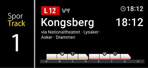 Nå kan du se hvor fullt toget er, allerede på stasjonen.