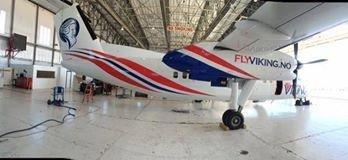 Flyviking holder døra på gløtt for flyvninger til Rygge.