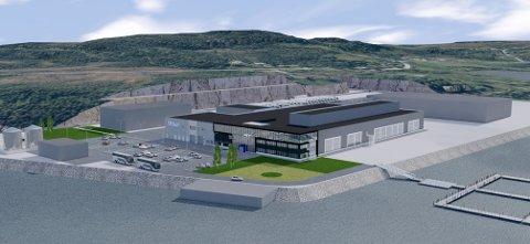 STORT: Nybygget til Salmar på Senja blir på 16.500 kvadratmeter, og få selskap av to andre bedrifter..